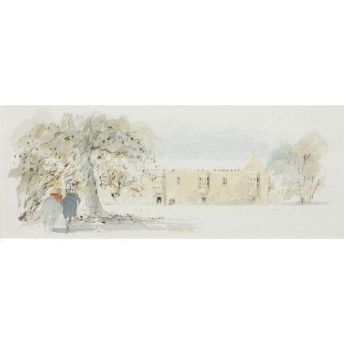 Hugh Casson St John's Oxford watercolour for sale