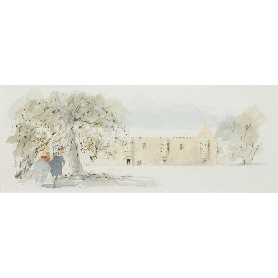 Hugh Casson St John's Oxford watercolour for sale