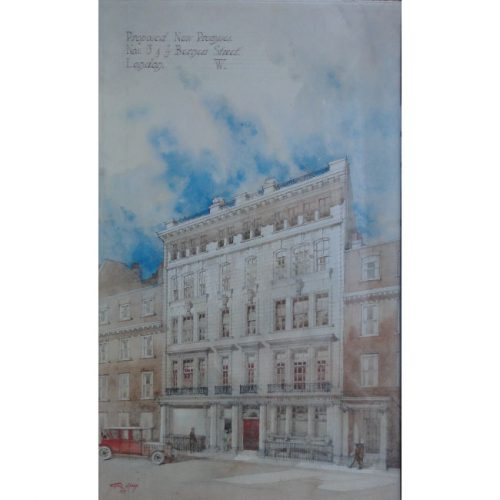 Cyril Farey architectural proposal for Berners St London