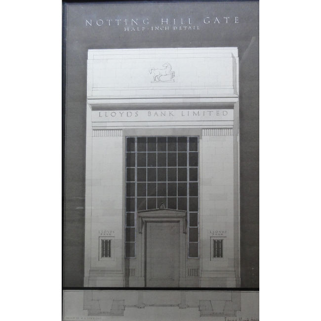 Edward Maufe Design for Lloyds Bank Notting Hill London