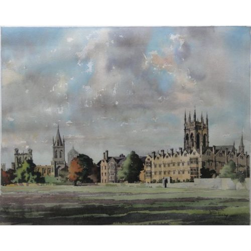 James Priddey Merton College Oxford watercolour for sale