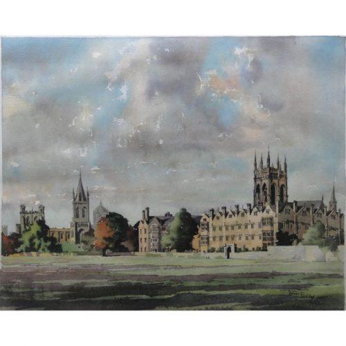 James Priddey Merton College Oxford watercolour for sale