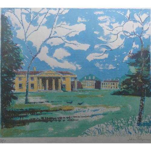 Julian Trevelyan, RA Downing College, Cambridge lithograph for sale