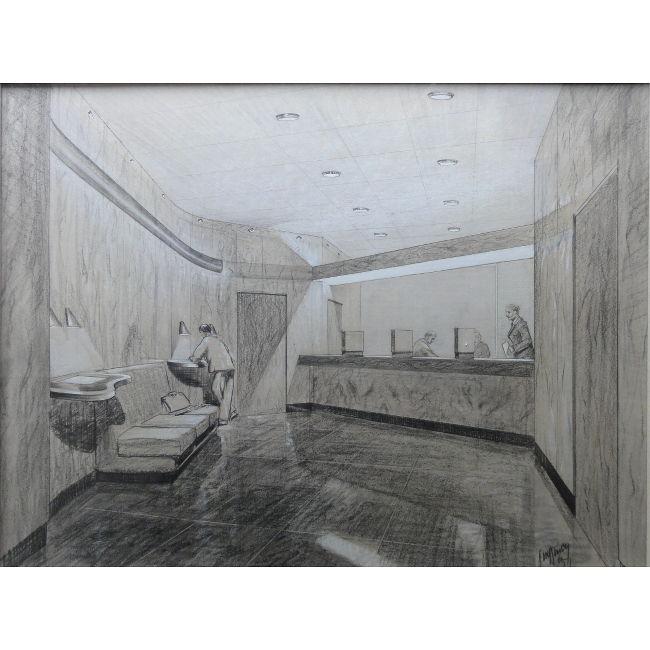 John Dean Monroe Harvey Bank Interior