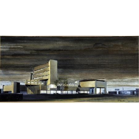Douglas Hickman Brutalist Building