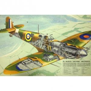 Britian's New Spitfire Rare Original Vintage Poster HMSO 1940