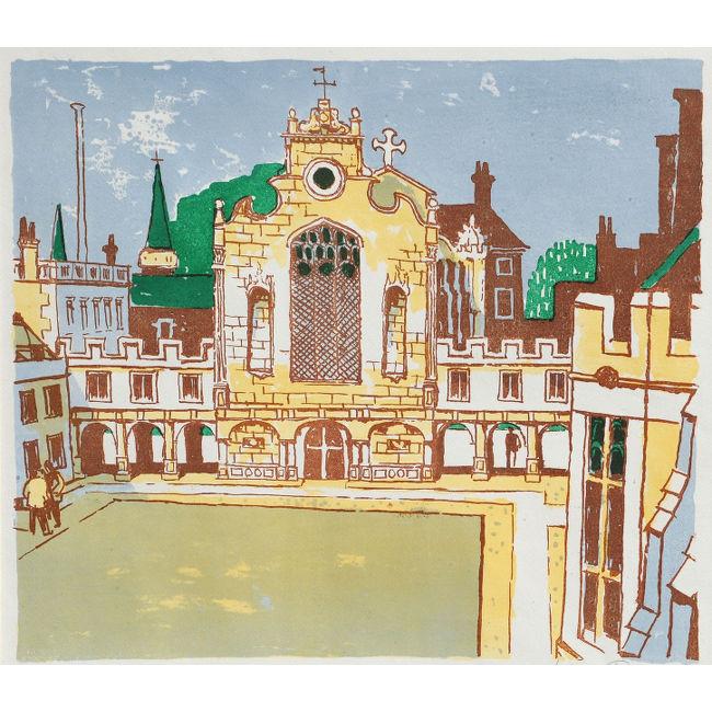 Julian Trevelyan Peterhouse Cambridge college lithograph for sale