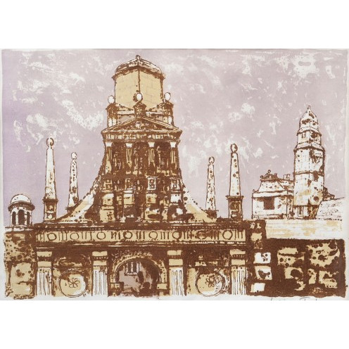 Julian Trevelyan Caius College II lithograph for sale