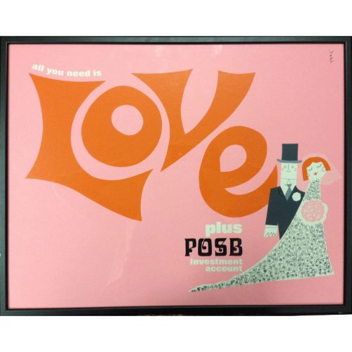 Dorrit Dekk Love poster for Post Office Savings Bank