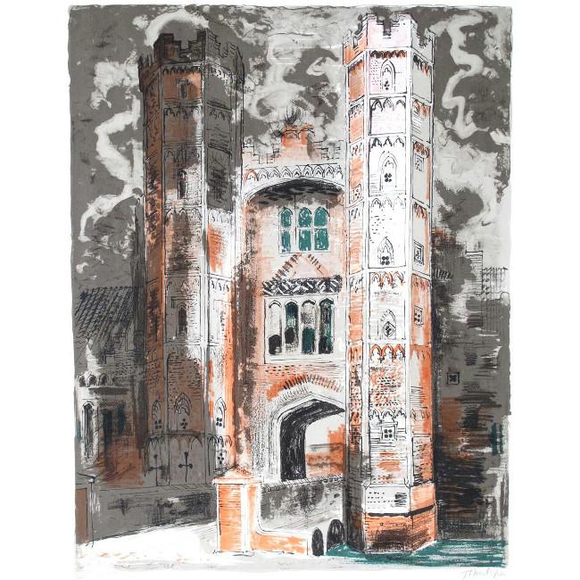 John Piper Oxburgh Hall Lithograph
