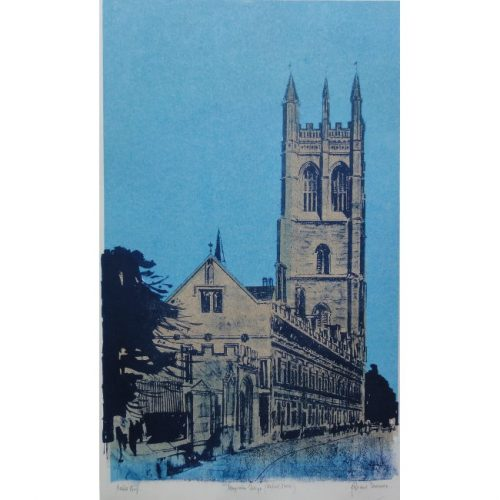 Robert Tavener Magdalen College Oxford screenprint for sale