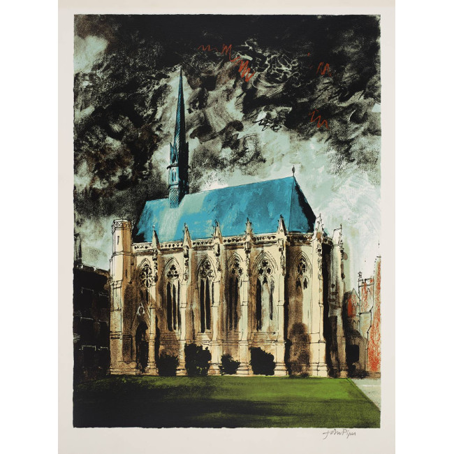John Piper Exeter College, Oxford screenprint for sale