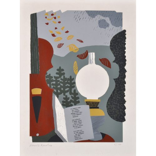 Kenneth Rowntree Chanson d'Automne (Verlain) Screen Print