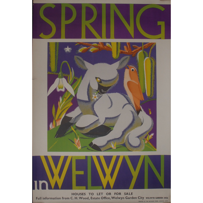 Charles Paine Spring in Welwyn Garden City Poster