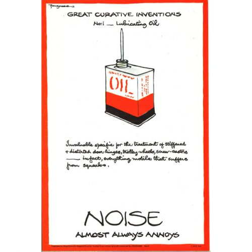 Fougasse Noise Almost Always Annoys Poster
