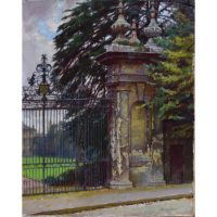 William Logsdail Trinity College Gateway Oxford for sale oil on canvas