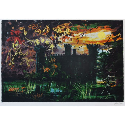 John Piper Eastnor Castle screenprint for sale
