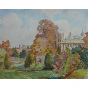 Wilfred Gabriel de Glehn Clare College from the Backs