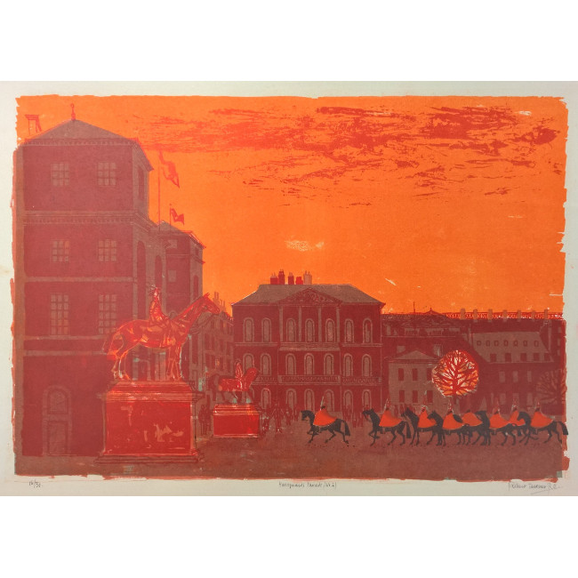 Robert Tavener Horseguards Parade (No 2) Lithograph