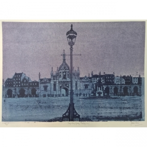 Robert Tavener King's College Cambridge Gateway Lithograph