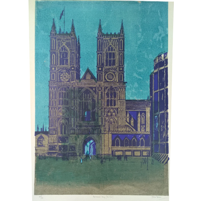 Robert Tavener Westminster Abbey Lithograph
