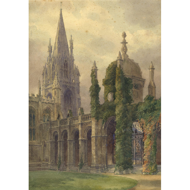 J Twigg All Souls Oxford watercolour for sale