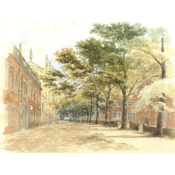 Oxford Street Scene Watercolour