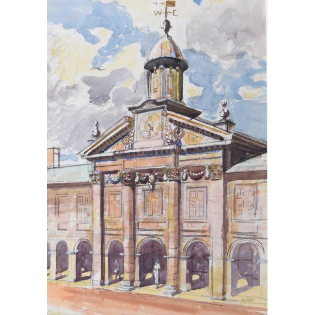 Edwin La Dell Emmanuel College Cambridge watercolour picture for sale painting