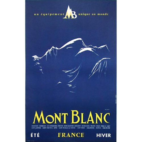 Yves Laty France, Chamonix Mont Blanc poster for sale