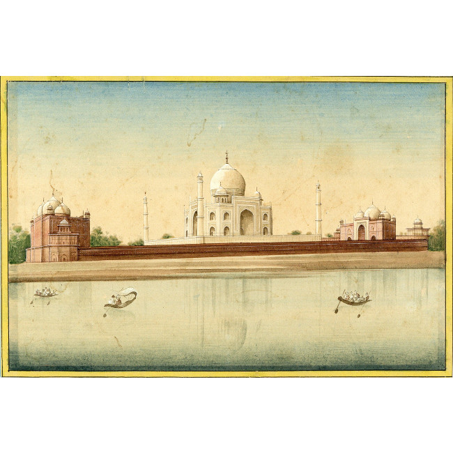 Domed Indian Palace on the River 19th Century