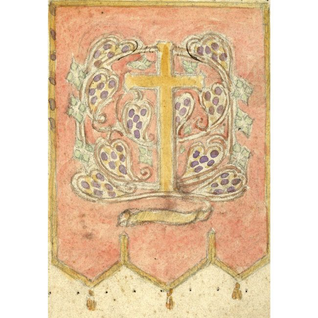 Reginald Hallward Design for celebratory flag with cross