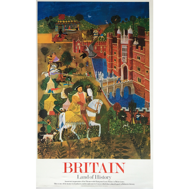 Britain Land of History Hampton Court Palace poster