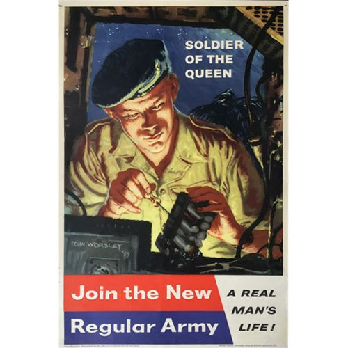 John Worsley Army recruitment poster 1959 original vintage