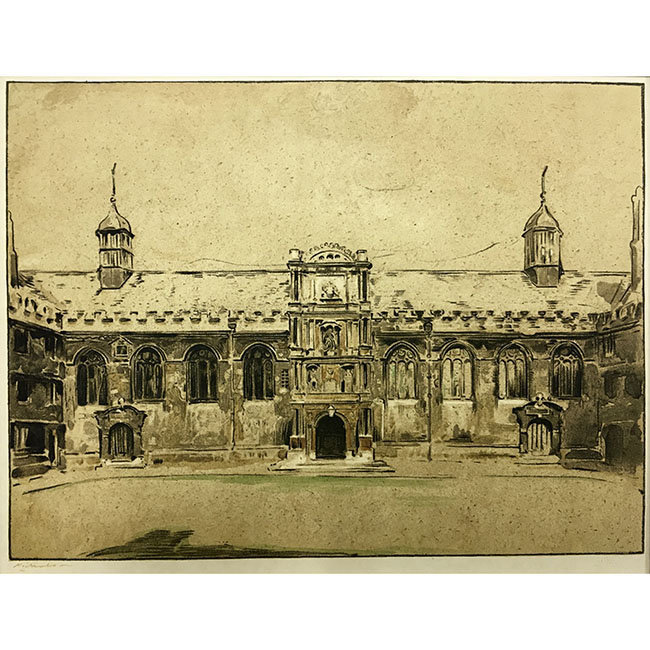 William Nicholson Wadham Oxford lithograph for sale