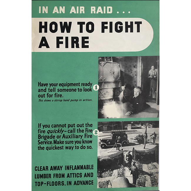 In an air raid… How to fight a fire