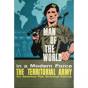 Territorial Army recruitment poster for sale