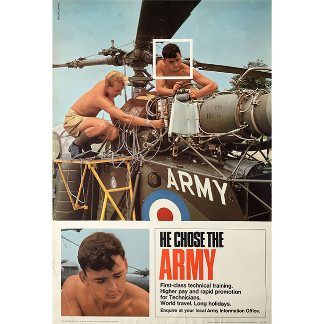He chose the army recruitment poster original vintage for sale