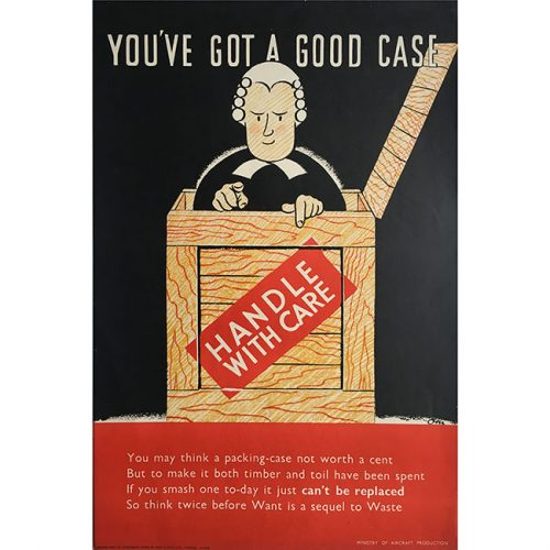 Owen Miller WW2 barrister poster for sale