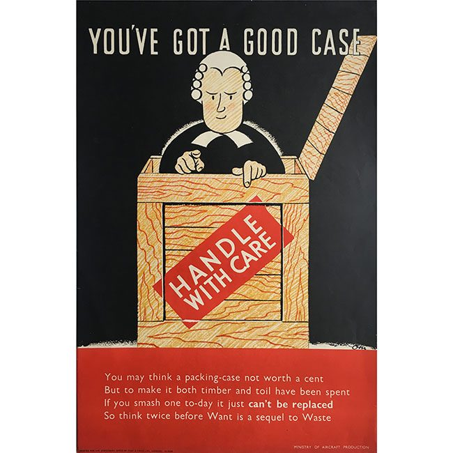 Owen Miller WW2 barrister poster for sale
