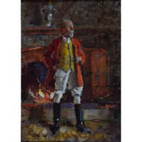 William Logsdail The Huntsman oil on board for sale