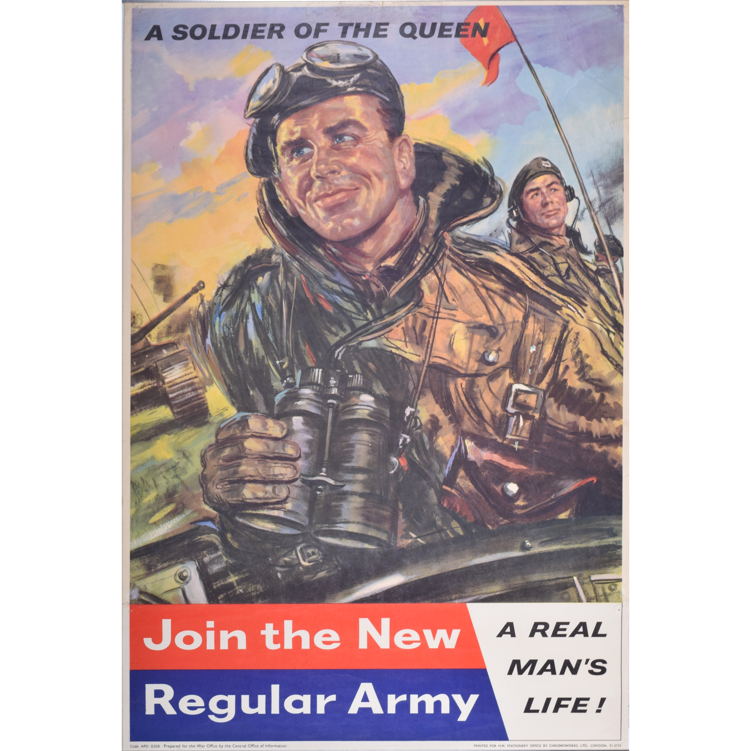 Join the New Regular Army Recruitment Poster 1959 Soldier of the Queen