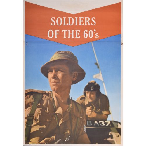 British Army recruitment poster for sale Soldiers of the 60's Hats