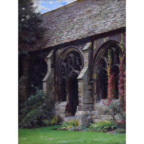 William Logsdail New College Oxford oil painting