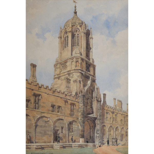Phene Spiers Tom Tower Christ Church Oxford watercolour 1880