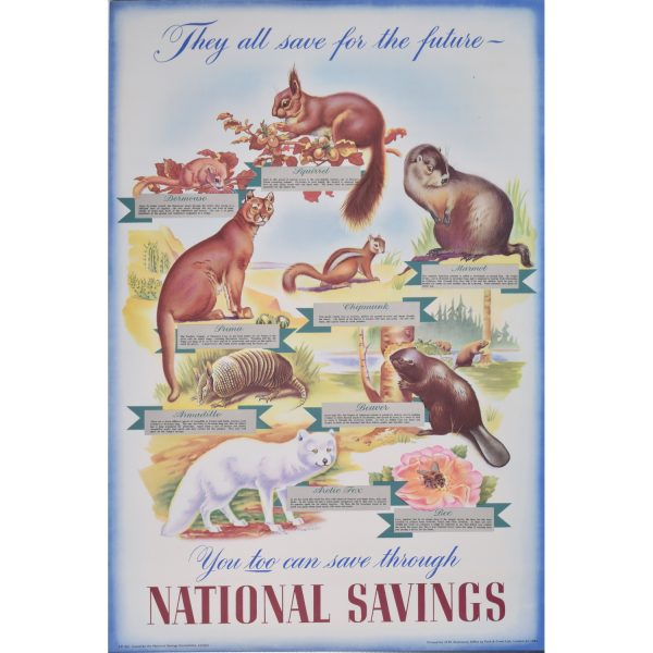 Owen Miller They all save for the future - National Savings poster