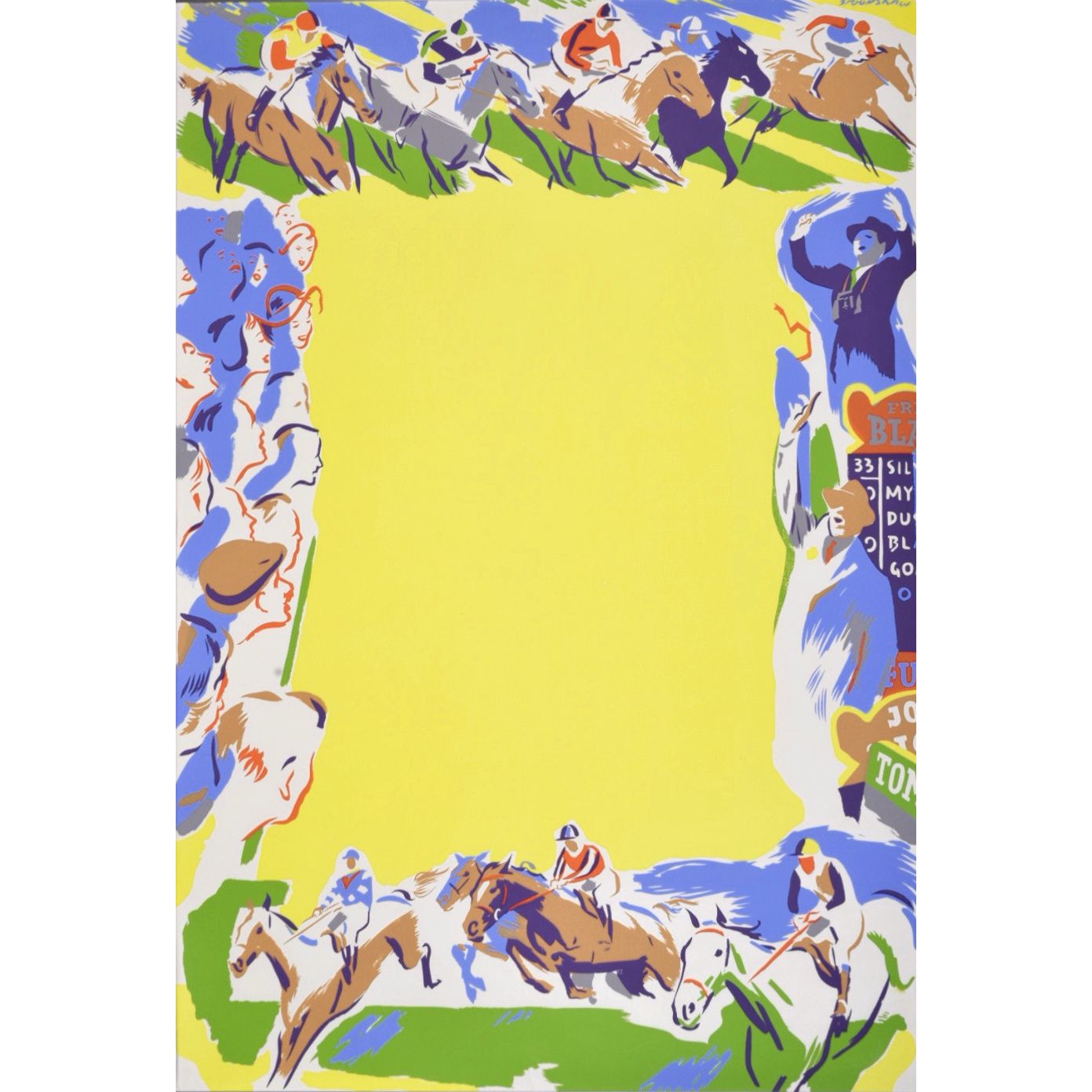 Percy Drake Brookshaw Horse Racing Coach Poster