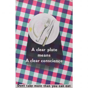 James Fitton A Clean Plate Means a Clean Conscience original poster