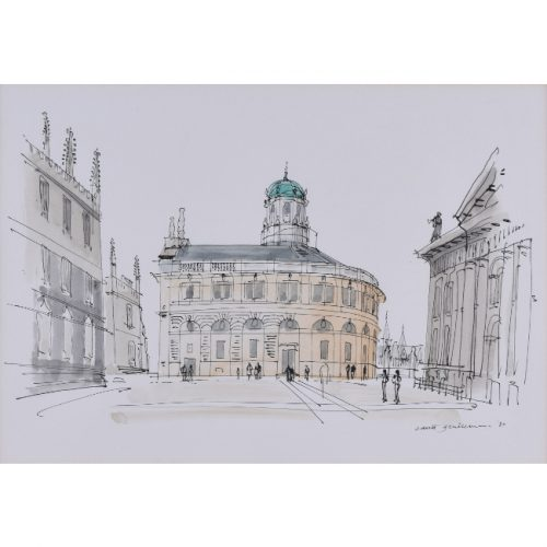 David Gentleman Sheldonian Theatre Oxford watercolour for sale