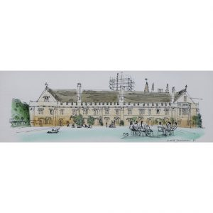 David Gentleman Magdalen College Oxford watercolour