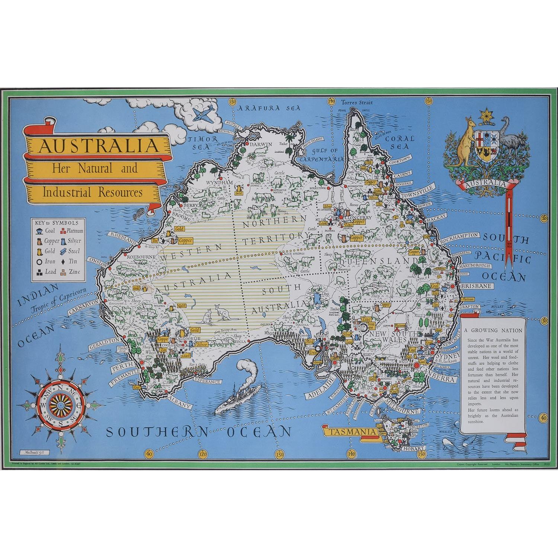 Max Gill - Macdonald Gill - Australia Map